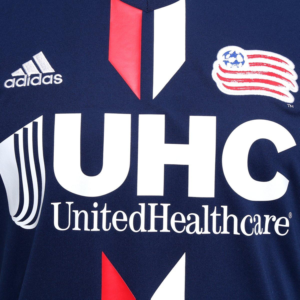 5cd510332 Camisa New England Revolution MLS Home 2016 s nº Torcedor Adidas ...