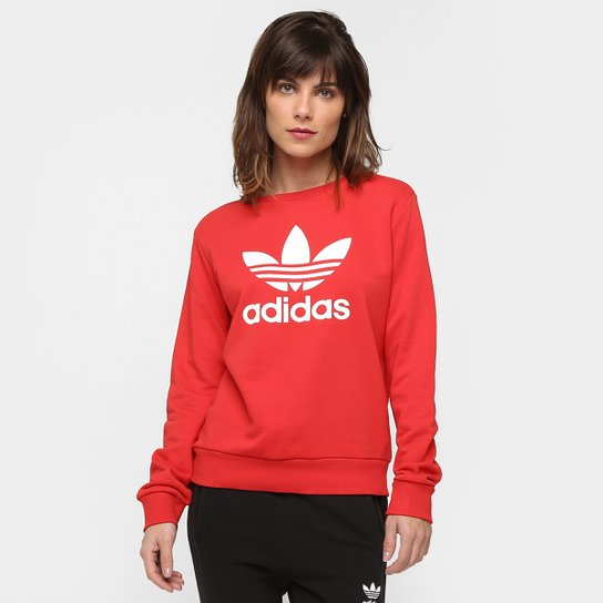 776812a2848 Moletom Adidas Originals Trefoil Crew - Compre Agora