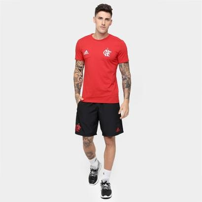 ... Camiseta Flamengo Adidas Viagem Masculina. Passe o mouse para ver o Zoom adac39c9c2b33