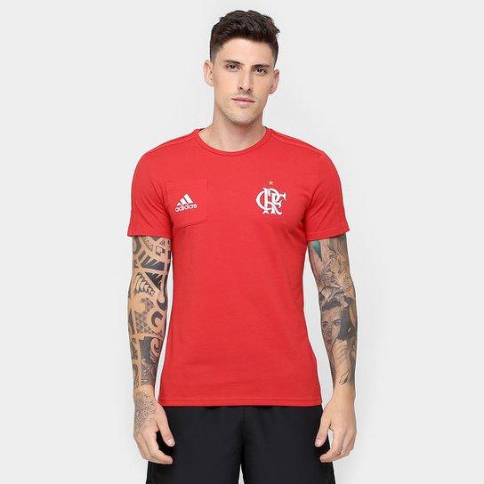 e6377a0372 Camiseta Flamengo Adidas Viagem Masculina - Compre Agora