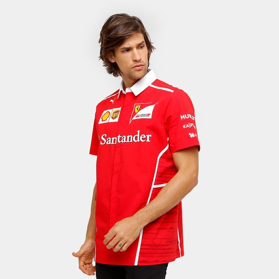 1ed99795b7 Camisa Puma Scuderia Ferrari Team Masculina - Vermelho