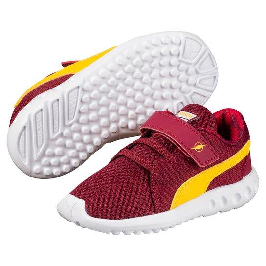 7f6e4f943a6 Tênis Infantil Puma Liga da Justiça Carson 2 V Ps I Masculino -  Vermelho+Amarelo