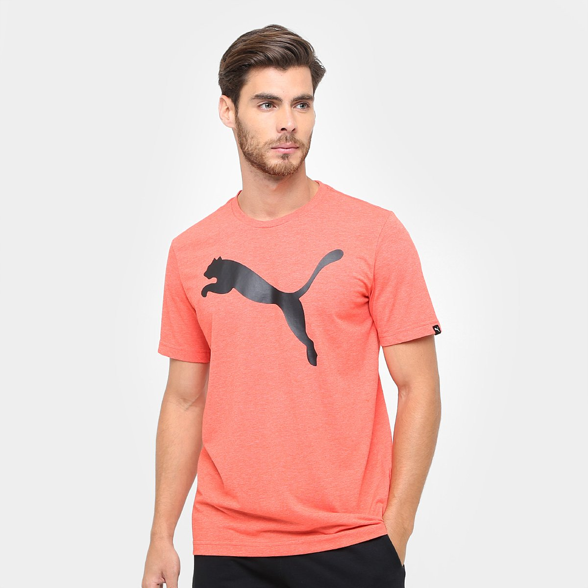 Camiseta Puma Ess Big Cat Heather Tee Masculina  9aca83122126c