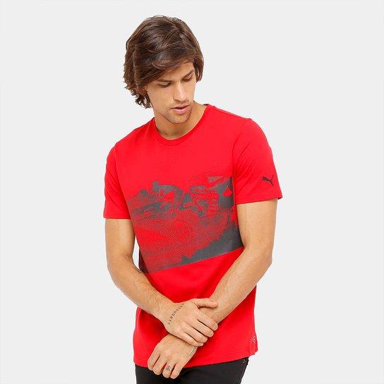 Camiseta Puma Scuderia Ferrari Transform Graphic Masculina - Compre ... 0c6e09d16d16a