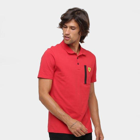 7a81dccb26847 Camisa Polo Puma Scuderia Ferrari Masculina - Vermelho - Compre ...