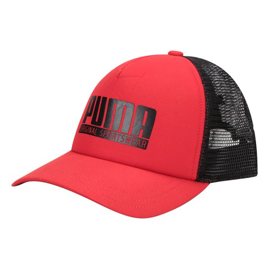 82a389dcc0 Boné Puma Aba Curva Style Trucker Masculino - Vermelho | Netshoes