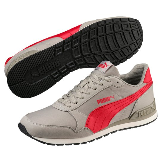 Tênis Puma St Runner V2 Nl - Vermelho e Cinza - Compre Agora  aa89554815660