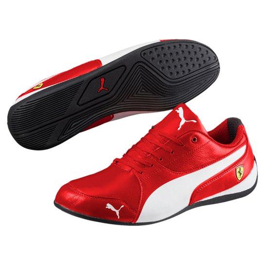 14f3fc0913a Tênis Puma Scuderia Ferrari Drift Cat 7 Masculino - Vermelho+Branco