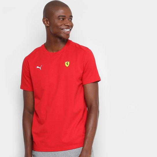 Camiseta Puma Scuderia Ferrari Small Shield Masculina - Compre Agora ... 50832a86d4c