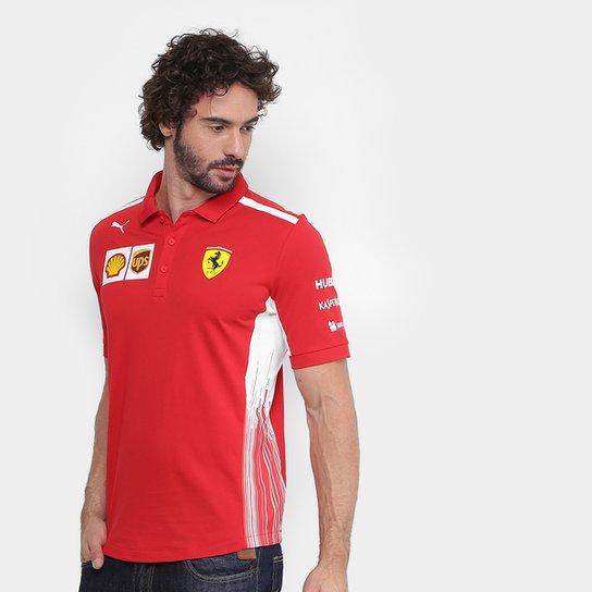 Camisa Polo Puma Scuderia Ferrari Team Masculina - Compre Agora ... 65156fb554308