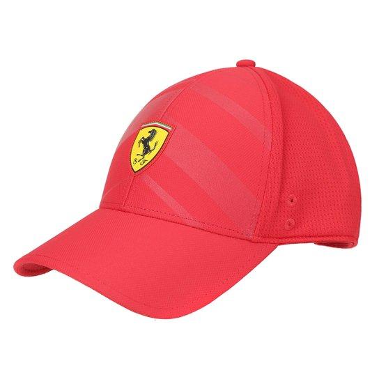 Boné Puma Scuderia Ferrari Aba Curva Fanwear Tech BB - Vermelho ... 82e4442626e