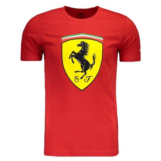 Camiseta Puma Scuderia Ferrari Big Shield - Compre Agora  16673b78a48