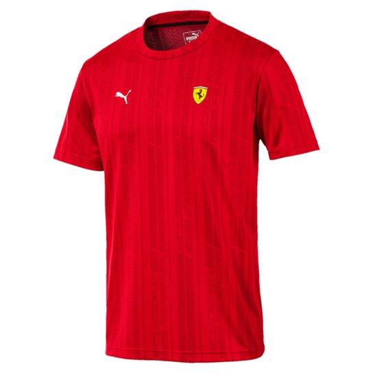e711764a7c Camiseta Puma Scuderia Ferrari Jacquard Tee Masculina - Compre Agora ...
