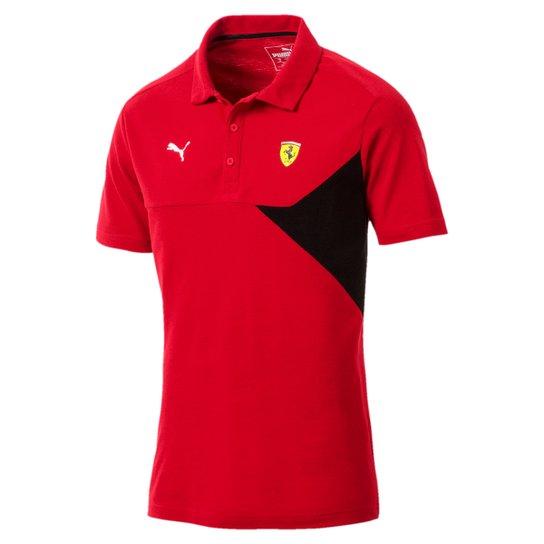 1dce617984 Camiseta Polo Puma Scuderia Ferrari Masculina - Vermelho - Compre ...