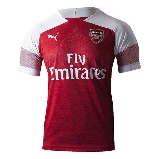 4b178ae1f90e3 Camisa Arsenal Home 2018 s n° - Torcedor Puma Masculina - Vermelho+Branco