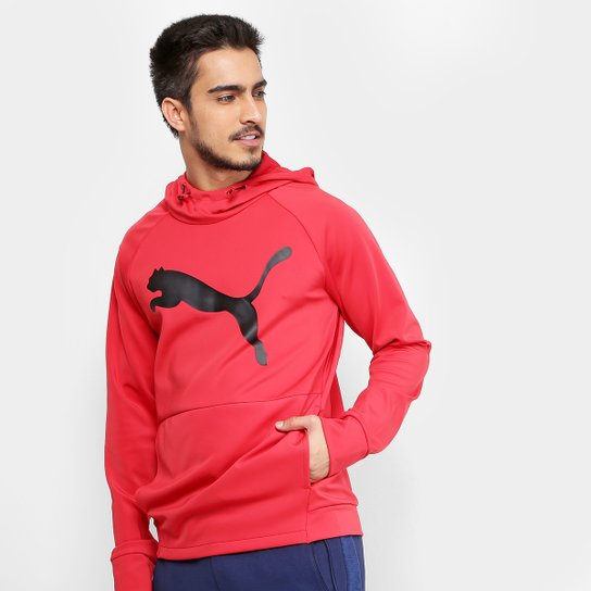 8d80cc4630 Moletom Puma Tec Sports Cat Masculino - Vermelho - Compre Agora ...