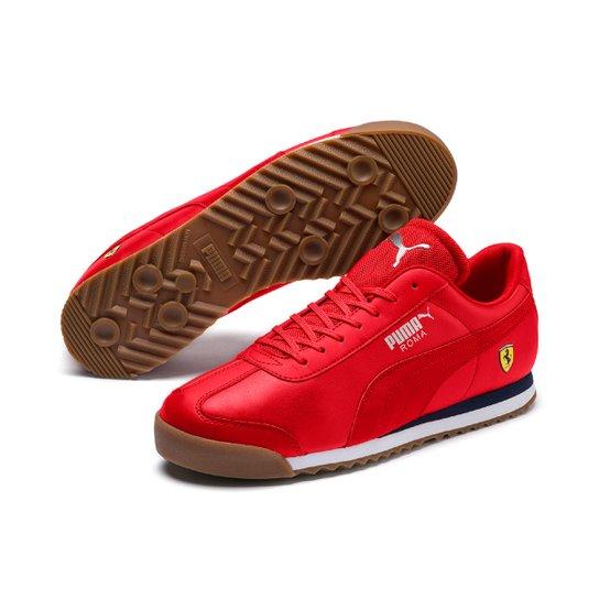 09132adb938 Tênis Couro Puma Ferrari Roma Masculino - Vermelho - Compre Agora ...