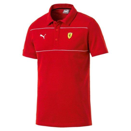 Camisa Polo Puma Ferrari Masculina - Vermelho - Compre Agora   Netshoes 36972412f7