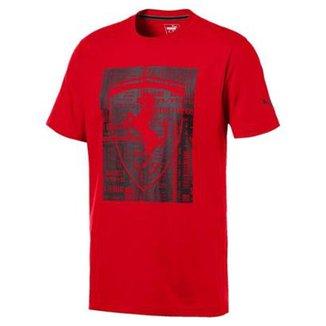 Camiseta Puma Ferrari Big Shield I Masculina d3c31276957fe