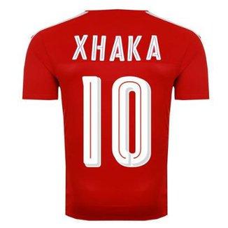 Camisa Puma Suíça Home 2016 10 Xhaka Masculina d424216813c4e