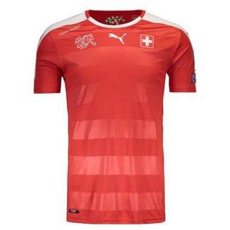 Camisa Puma Suíça Home 2016 Eliminatórias FIFA Masculina d1f440ea71e4b