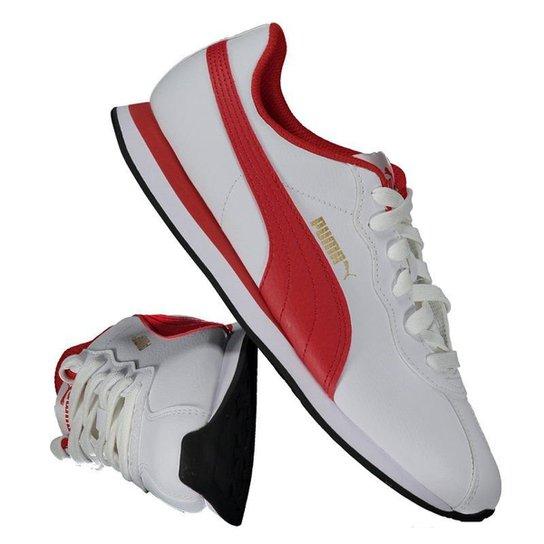 700f3495f0f Tênis Puma Turin II Branco Masculino - Vermelho - Compre Agora ...