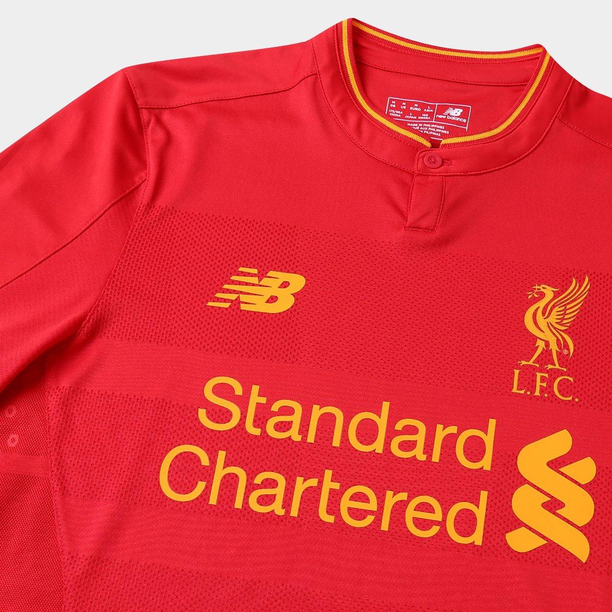 27aaf268d8 Camisa Liverpool Home16 17 s nº Torcedor New Balance Masculino ...