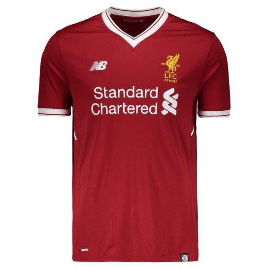 Camisa New Balance Liverpool Home 2018 Masculina - Compre Agora ... e8dc1a268606f