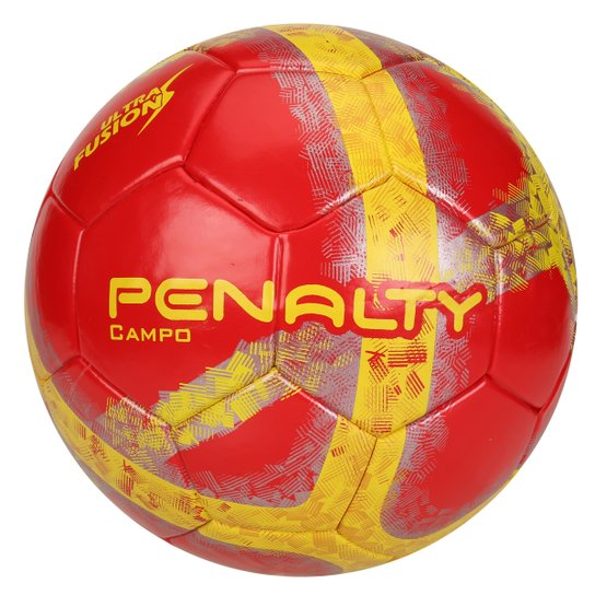 2383430f04113 Bola Futebol Campo Penalty Ultra Fusion 6 - Vermelho+Amarelo