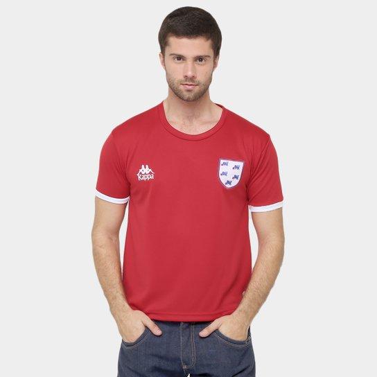 cc2f0e387c145 Camiseta Inglaterra Kappa Masculina - Vermelho - Compre Agora