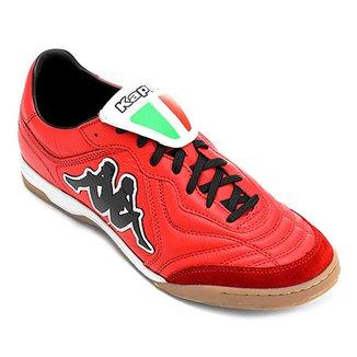 ae4551a2491 Chuteira Futsal Kappa Pelle Couro Masculina