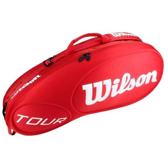 168b2e2b1 Raqueteira Wilson Tour Molded X6 Vermelha - Compre Agora
