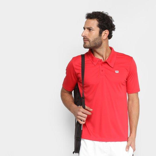 Camisa Polo Wilson Core Masculina - Vermelho - Compre Agora  a20e27169bc10