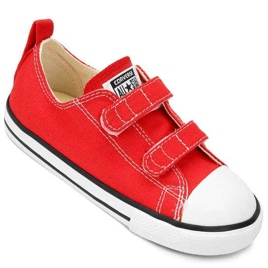 dcf1bf1c77974 Tênis Infantil Converse Chuck Taylor All Star 2 Velcros Baby - Vermelho