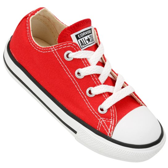 f65b6e97183 Tênis Infantil Converse Chuck Taylor All Star Baby - Vermelho ...