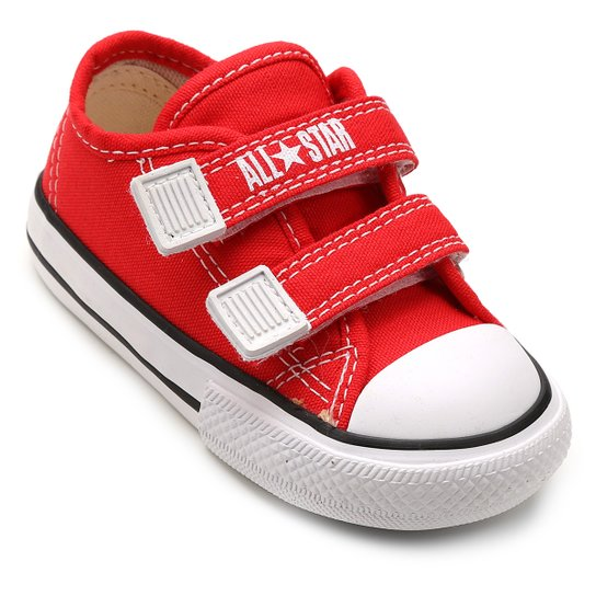 Tênis Infantil Converse All Star CT Border 2 Velcros Baby - Vermelho ... dcb864345798c
