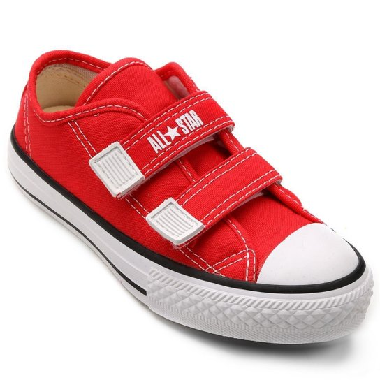 88ac0105dfa0b Tênis Infantil Converse All Star CT Border 2 Velcros - Vermelho ...