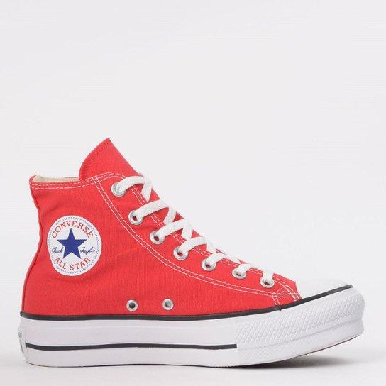 06ae04d1d Tênis Converse Chuck Taylor All Star Platform - Vermelho - Compre ...