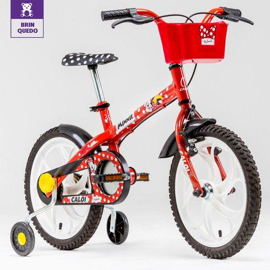 61bbd5889 Bicicleta Infantil Aro 16 Caloi Minnie - Vermelho