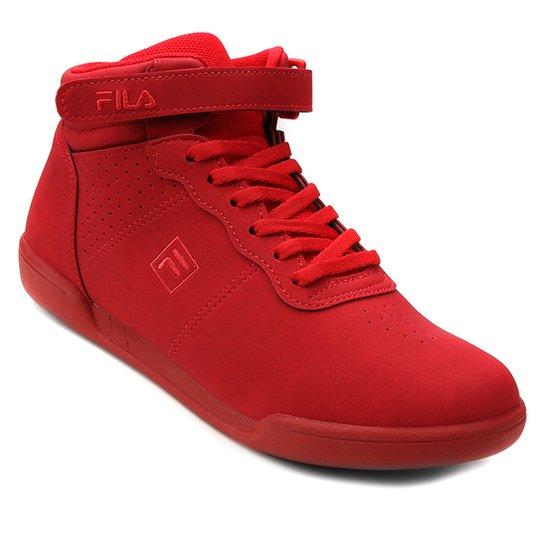 d49887f146e Tênis Cano Alto Fila F-16 High Feminino - Vermelho - Compre Agora ...
