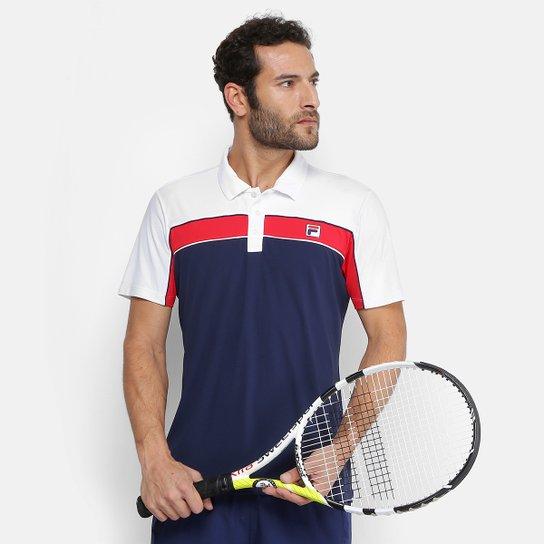 Camisa Polo Fila Soft Masculina - Marinho e Vermelho - Compre Agora ... 61b201e7daac1