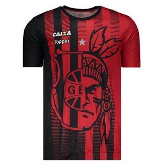 Camisa Topper Brasil de Pelotas 2017 Aquecimento Masculina 24a236e99940d
