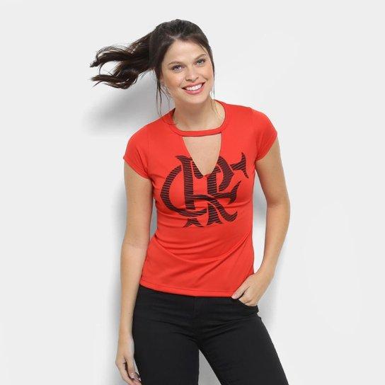 7116bf65af Camiseta Flamengo Choker Feminina - Vermelho - Compre Agora