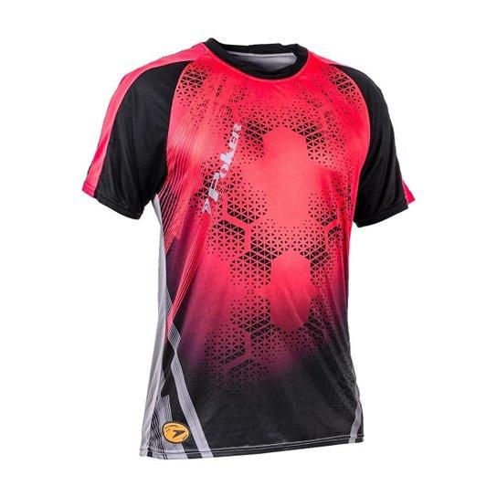 Camisa Poker Manga Curta Goleiro Sublimax Bank Masculina - Vermelho ... f58e00355df0d