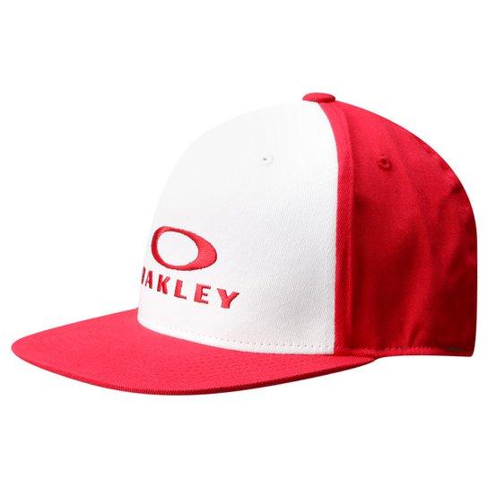 59a0975d56 Boné Oakley 110 O-Justable 6 Panel Fle - Branco e Vermelho | Netshoes