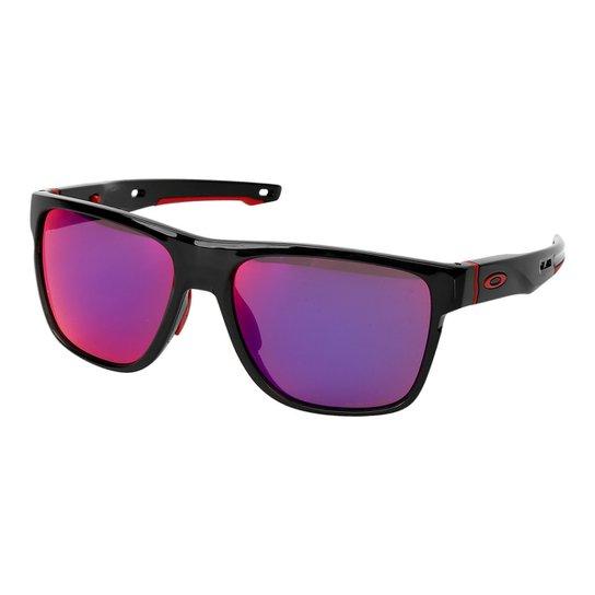 b4d9cb926147d Óculos de Sol Oakley Crossrange Xl Masculino - Preto+Vermelho