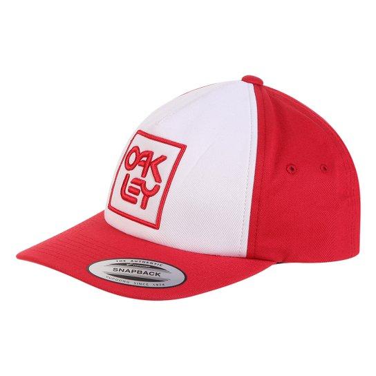 Boné Oakley Aba Reta Mod Snapback Logo Masculino - Vermelho - Compre ... 1b2eee031de