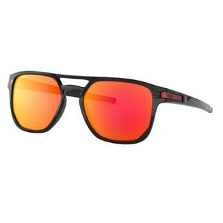 6131b896c26f9 Óculos Oakley Latch Beta Polished Black  Lente Prizm Ruby
