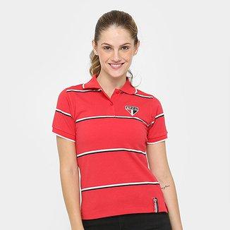 e33710af06 Camisa Polo São Paulo Fio Tinto Feminina