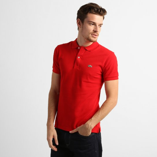 ae7150d73b171 Camisa Polo Lacoste Lisa Slim Fit - Compre Agora   Netshoes